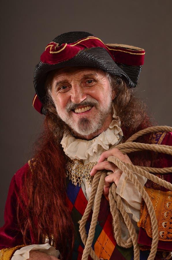 Glimlachende Piraat stock foto