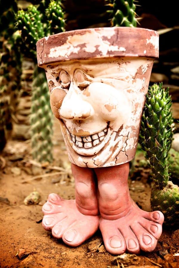 Glimlachende pot stock fotografie