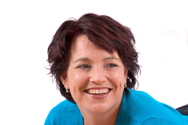 Glimlachende rijpe vrouw royalty-vrije stock foto