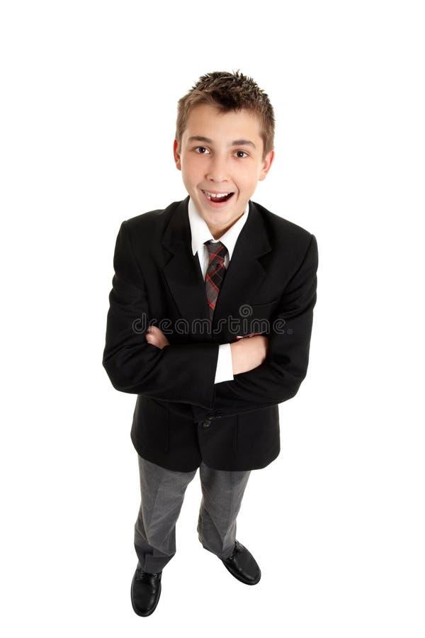 Glimlachende schoolstudent stock afbeeldingen