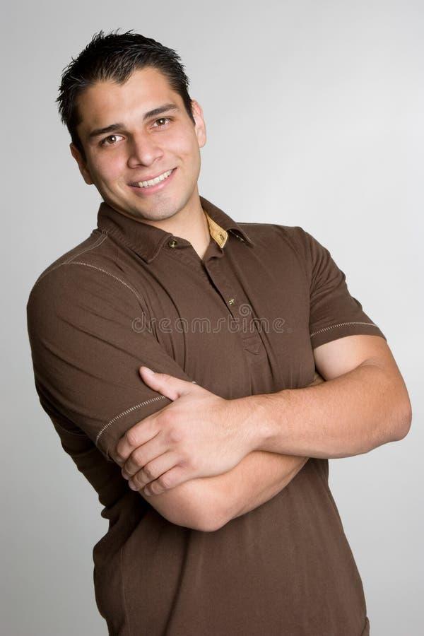 Glimlachende Spaanse Mens royalty-vrije stock foto's