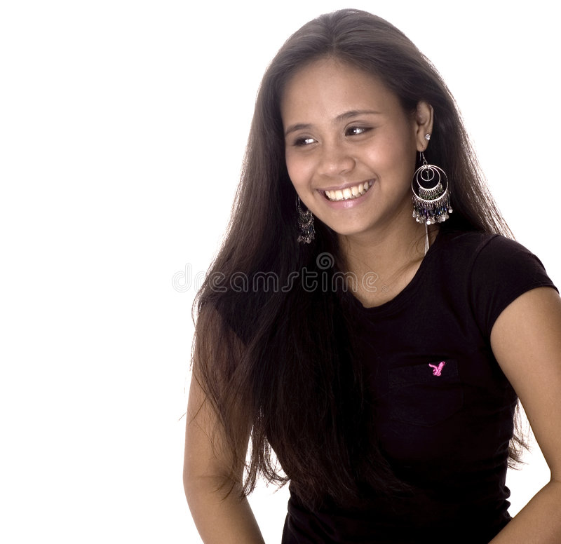 Glimlachende Tiener royalty-vrije stock foto's