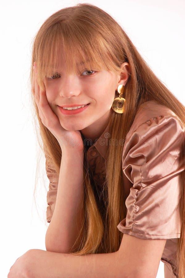 Glimlachende tiener stock afbeelding