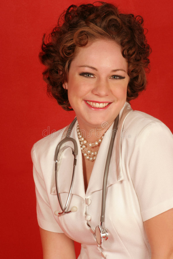 Glimlachende verpleegster royalty-vrije stock foto