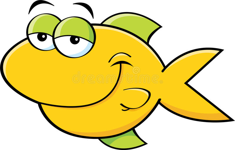 Glimlachende vissen vector illustratie