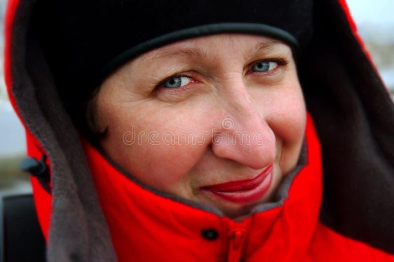 Glimlachende vrouw royalty-vrije stock afbeeldingen