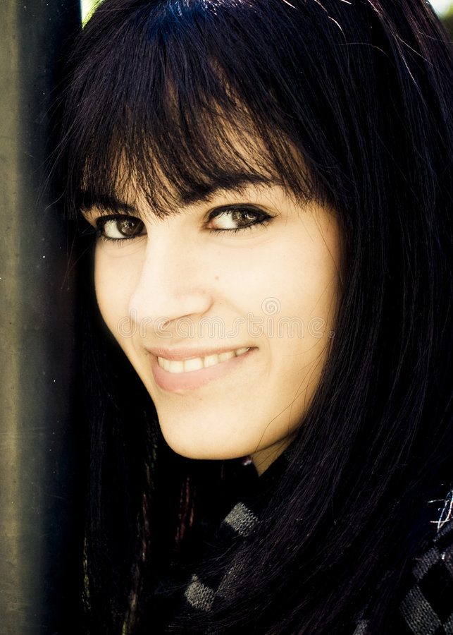 Glimlachende vrouw. royalty-vrije stock afbeelding