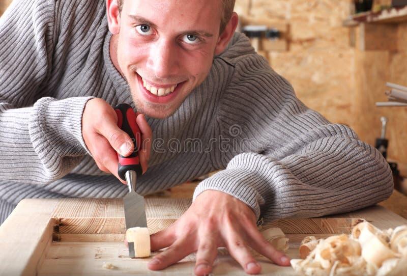 Glimlachende werkman royalty-vrije stock fotografie