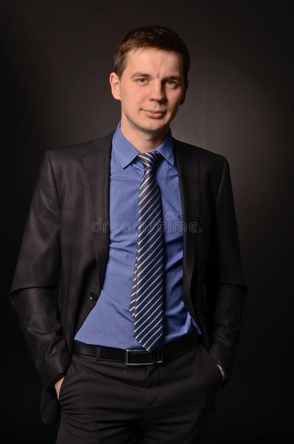 Glimlachende Zakenman stock foto