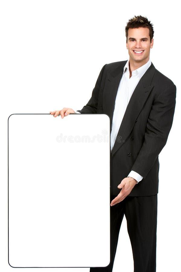 Glimlachende zakenman royalty-vrije stock foto's