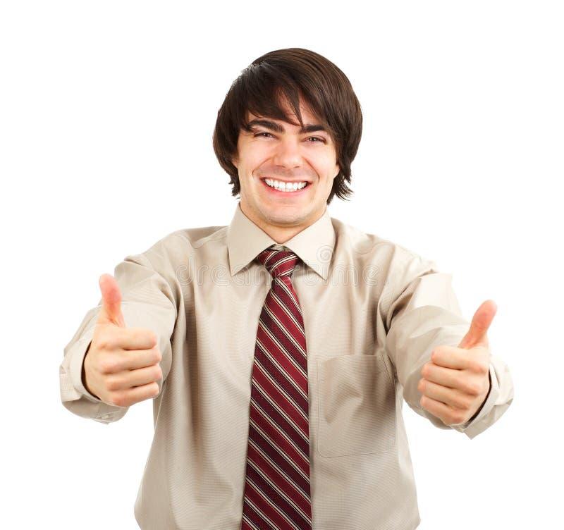 Glimlachende zakenman. royalty-vrije stock foto's
