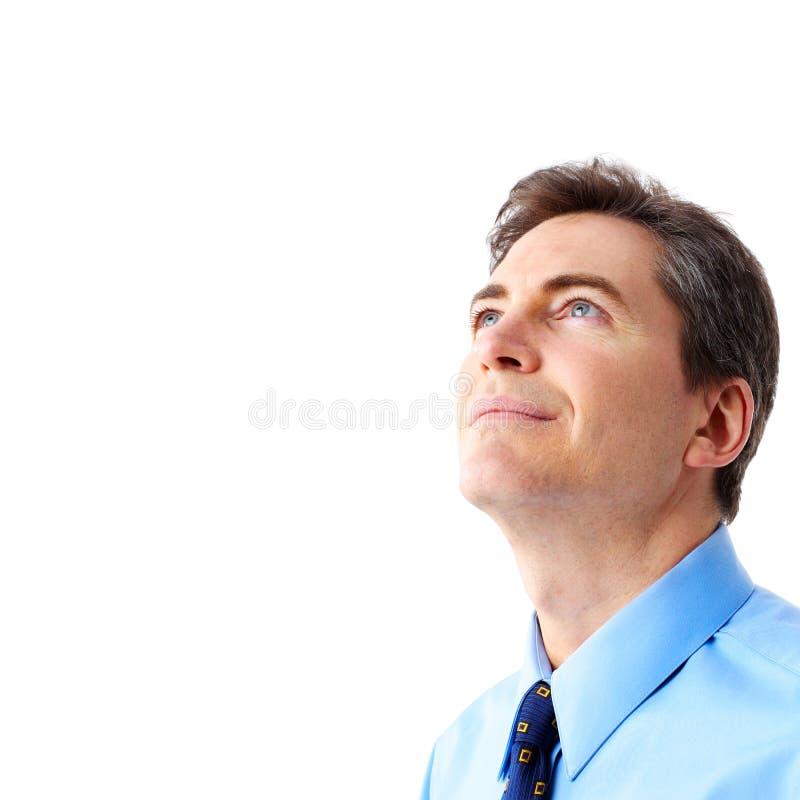 Glimlachende zakenman royalty-vrije stock afbeeldingen