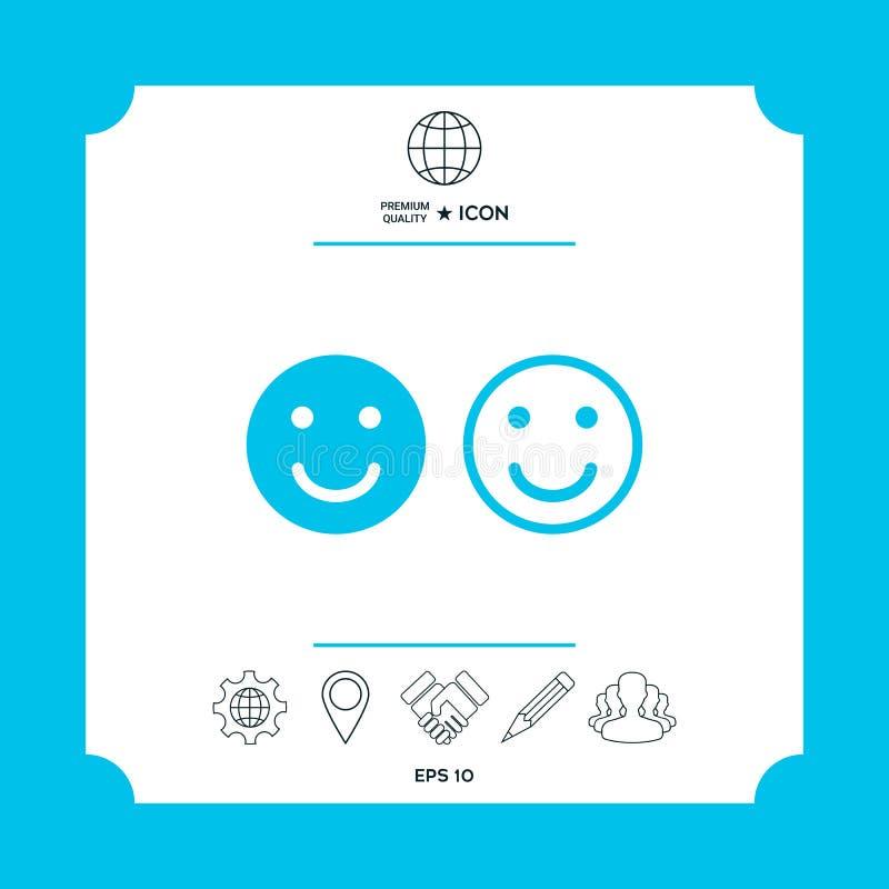 Glimlachpictogram Gelukkig gezichtssymbool voor uw websiteontwerp royalty-vrije illustratie