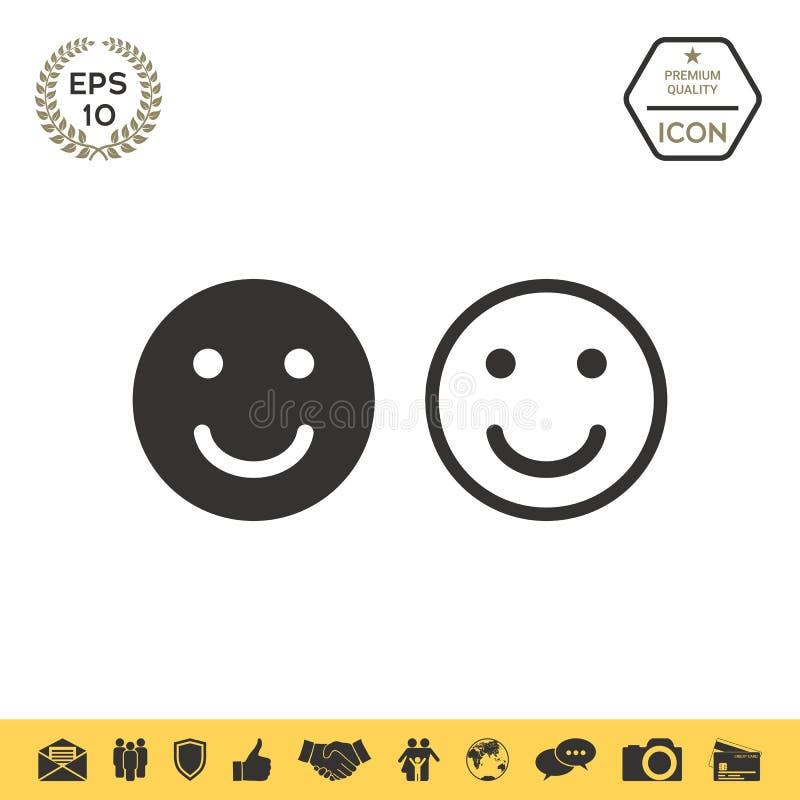 Glimlachpictogram Gelukkig gezichtssymbool voor uw websiteontwerp vector illustratie