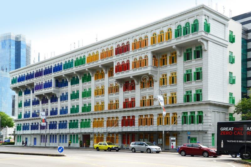 GLIMMERbyggnaden i Singapore royaltyfria bilder