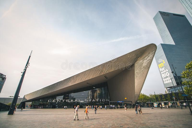 Rotterdam, Netherlands - Circa 2018: Rotterdam Centraal Station royalty free stock photo