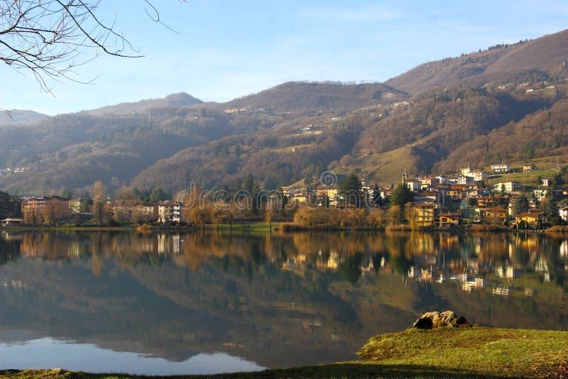 Glimpse of Lake Endine - BG Lombardy Italy royalty free stock image
