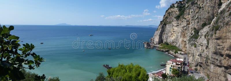 Glimpse of the landscape in the city of Meta di Sorrento. Sea plants royalty free stock photo