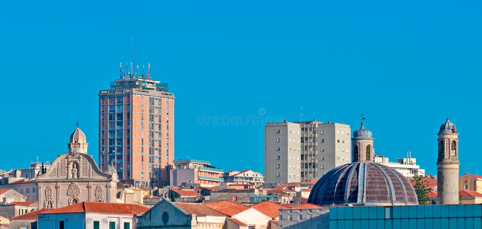 Glimpse of Sassari. On a clear day royalty free stock image