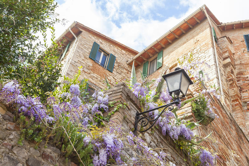 Glimpse of a typical Italian village. Beautiful glimpse of a typical Italian village royalty free stock image