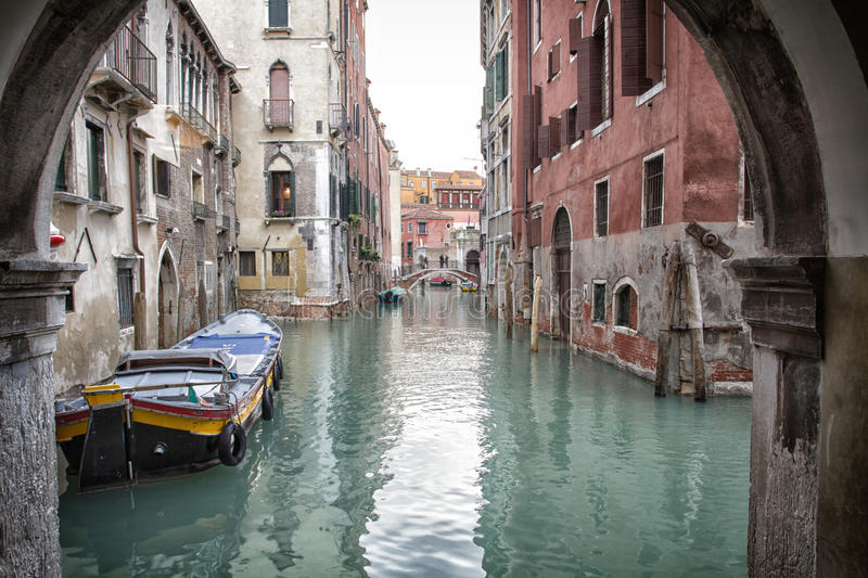 Glimpse of Venice. BW - Italy, Europe royalty free stock images