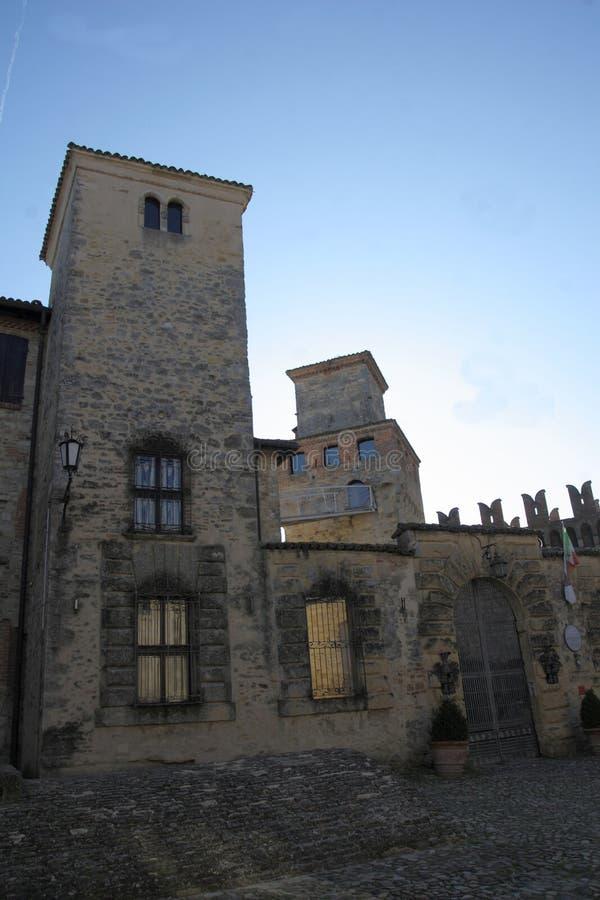 Glimpse Vigoleno Vernasca - PC - Italien lizenzfreie stockfotografie