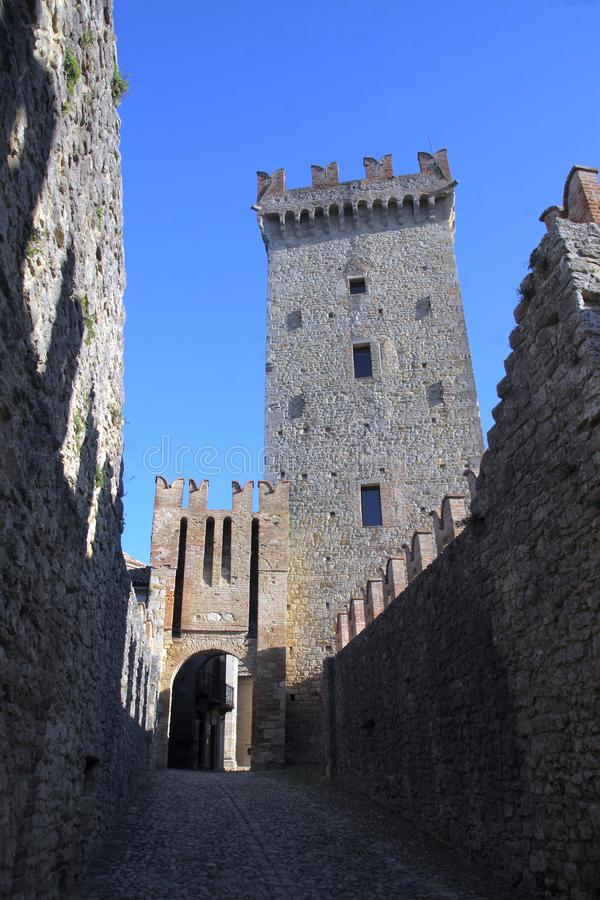 Glimpse Vigoleno Vernasca - PC - Italien stockfoto