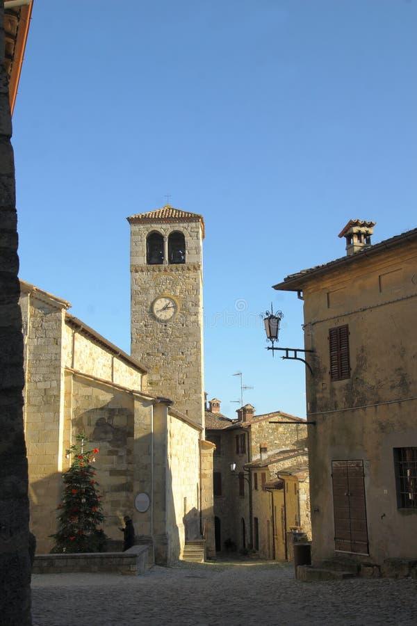 Glimpse Vigoleno Vernasca - PC - Italien stockbild