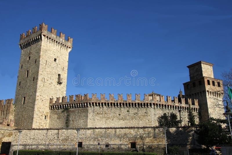 Glimpse Vigoleno Vernasca - PC - Italien lizenzfreie stockbilder