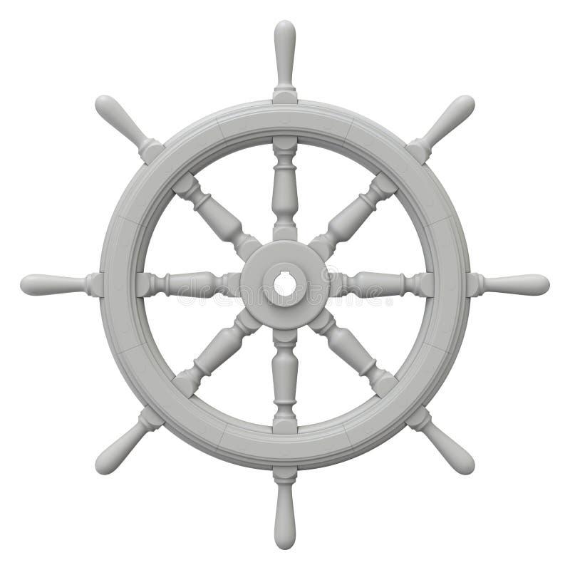 Glina odpłaca się statek kierownica ilustracja wektor