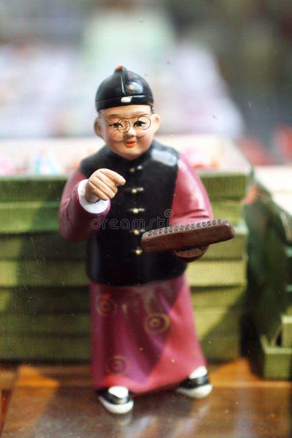gliniana biznesmen postać zdjęcia stock