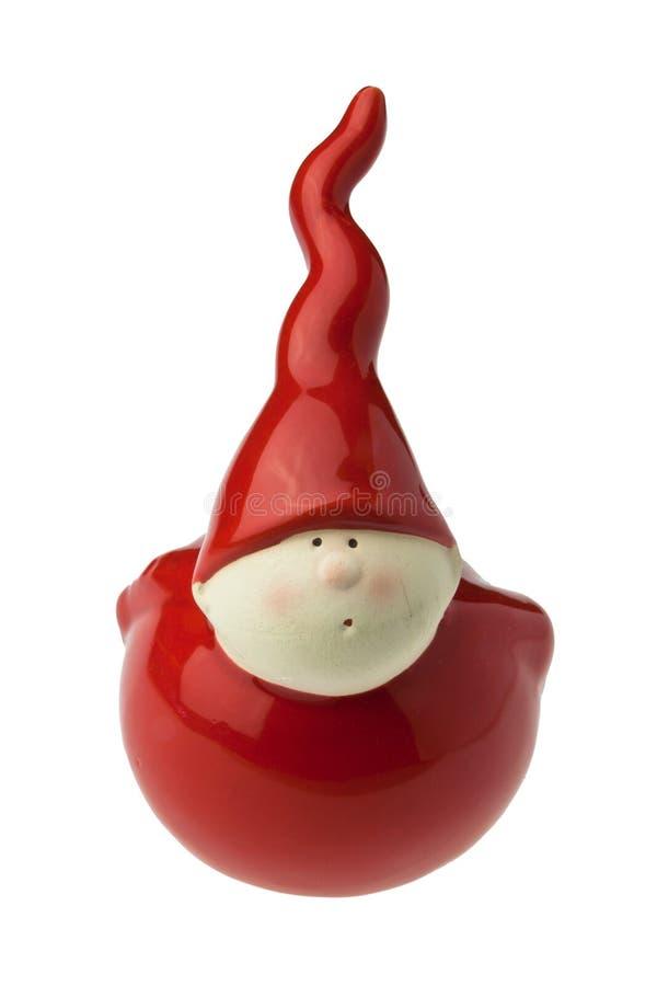 gliniana elfa kapeluszu czerwień obraz royalty free
