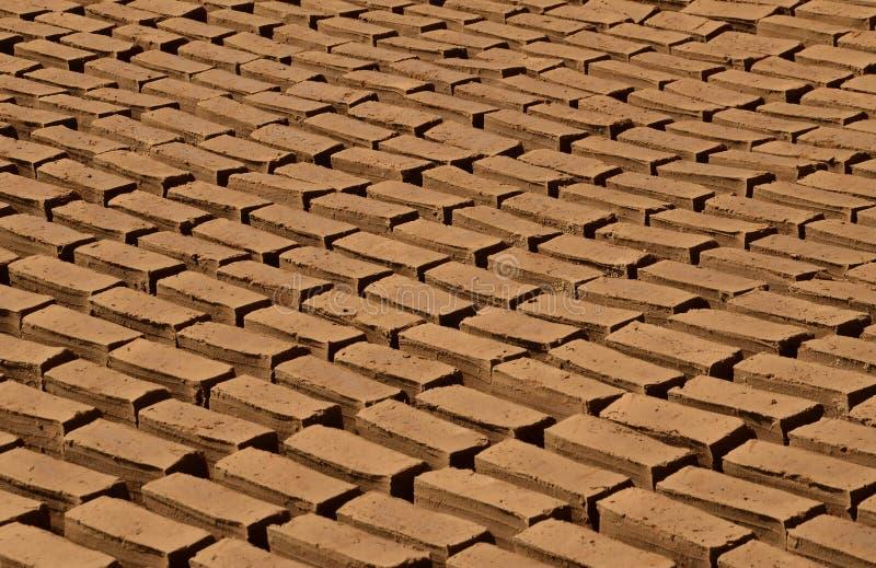 Gliniane cegły zdjęcie stock