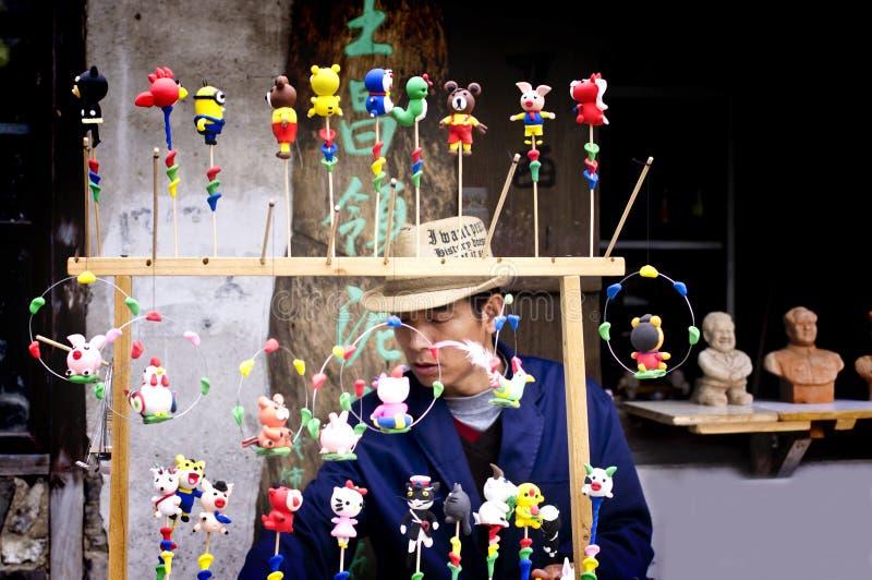 Gliniane figurki w xinchang obraz stock