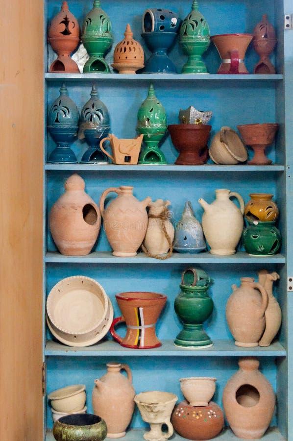 Gliniani ceramiczni rękodzieła pokazy, muszkat, Oman obrazy royalty free