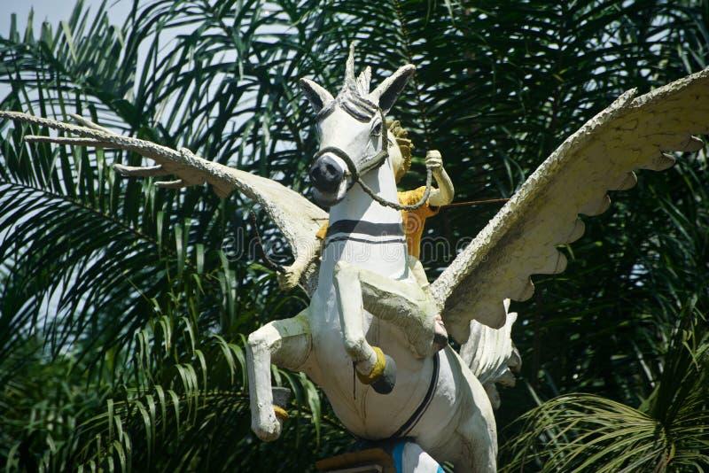 Gliniani robić zabytki latającego konia unikalna fotografia zdjęcie stock