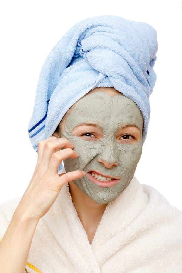 Gliniani twarzowi maskowi traktowania i piękna sekrety obrazy stock