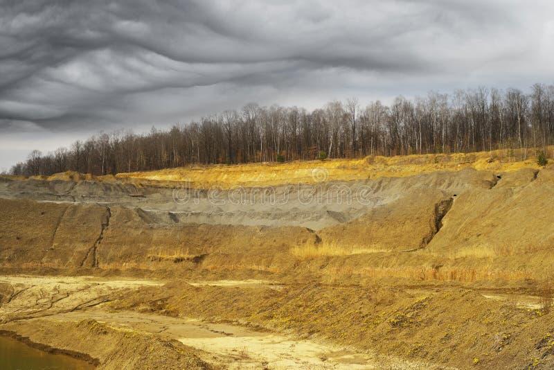 Gliniany łup w Ukraina obraz stock