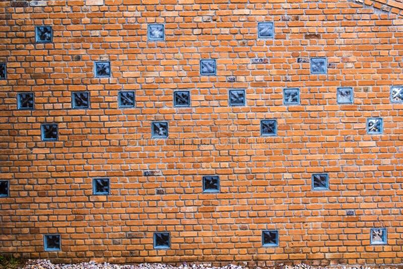 Gliniany ściana z cegieł zdjęcia royalty free