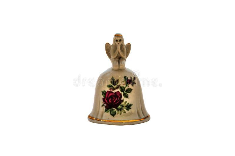 Gliniany dzwon ręką na Odosobnionym Białym tle zdjęcie stock