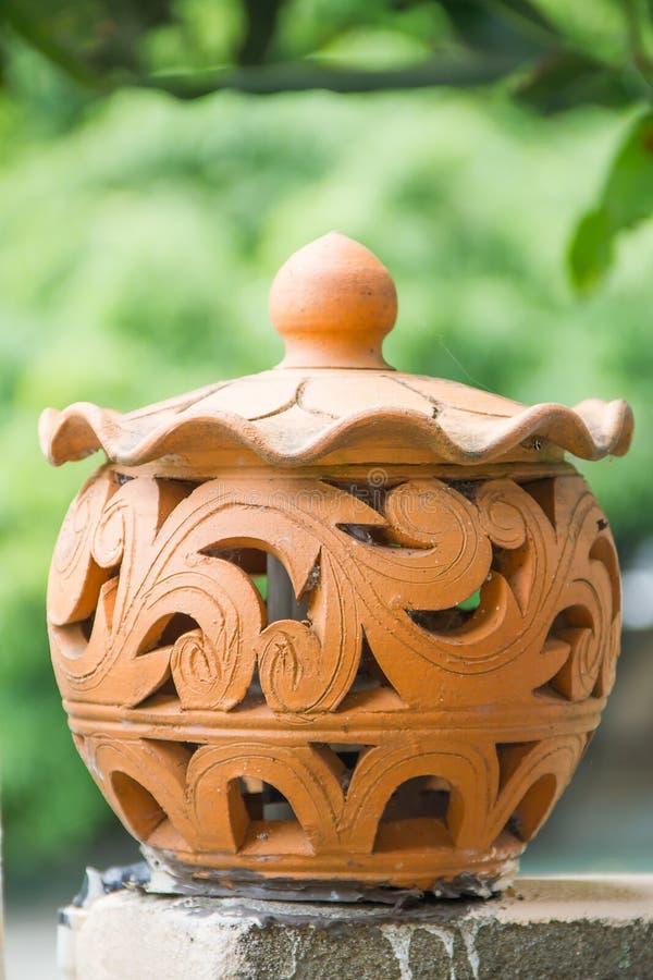 Gliniany garncarstwo dla lampy zdjęcie royalty free