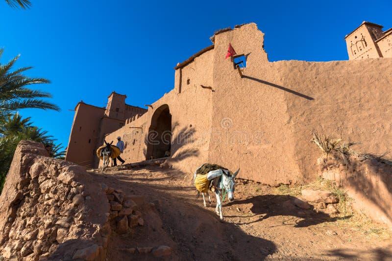 Gliniany kasbah Ait Benhaddou w Maroko zdjęcia royalty free