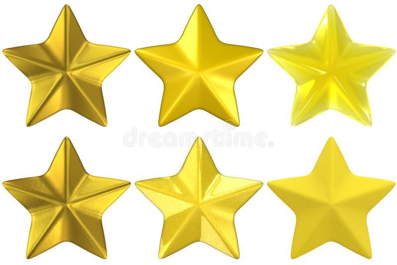gliniany szklany złocisty metalu kształta gwiazdy kolor żółty ilustracja wektor