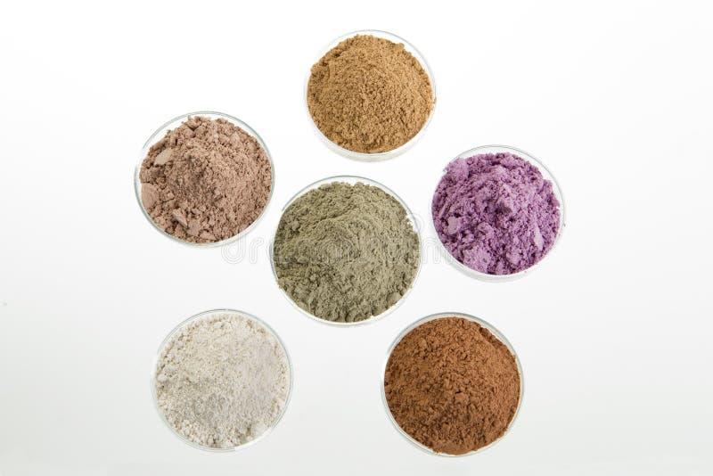 Gliny kosmetyczna paleta dla zdroju i ciała traktowania zdjęcie royalty free