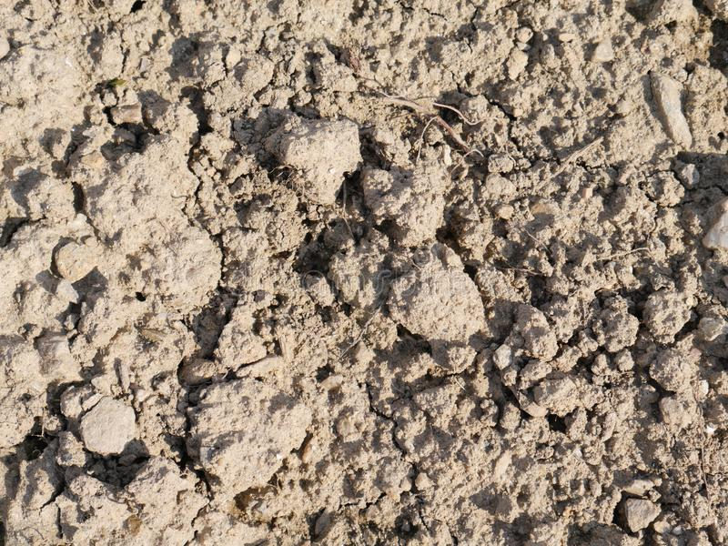 Gliny ziemi gomółki w naturalnym świetle dziennym obraz stock