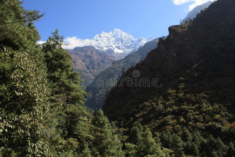 Download A Glipse of Everest stock photo. Image of himalayan, scene - 23515370