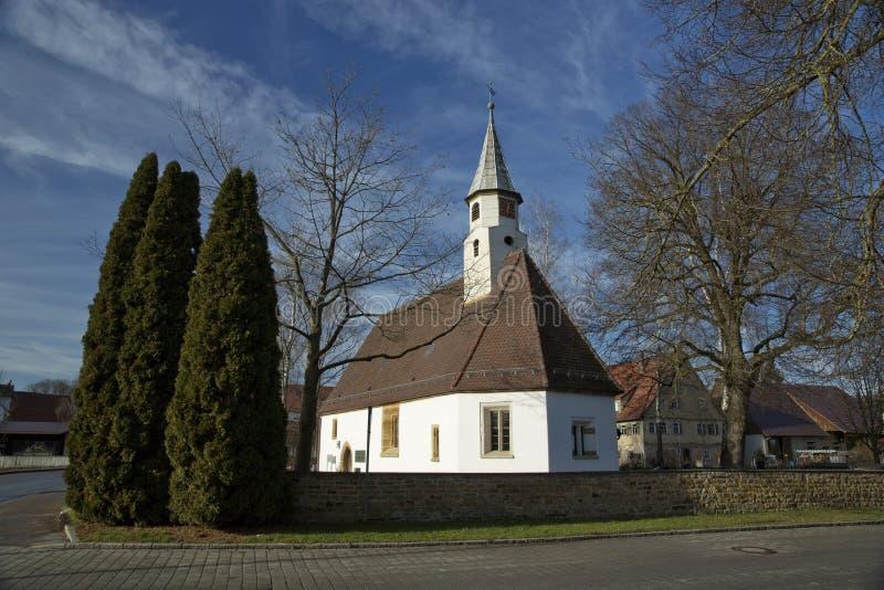 ?glise de Krummwalden, Krummwalden, Baden Wurttenberg, Allemagne - 1er janvier 2014 photo stock
