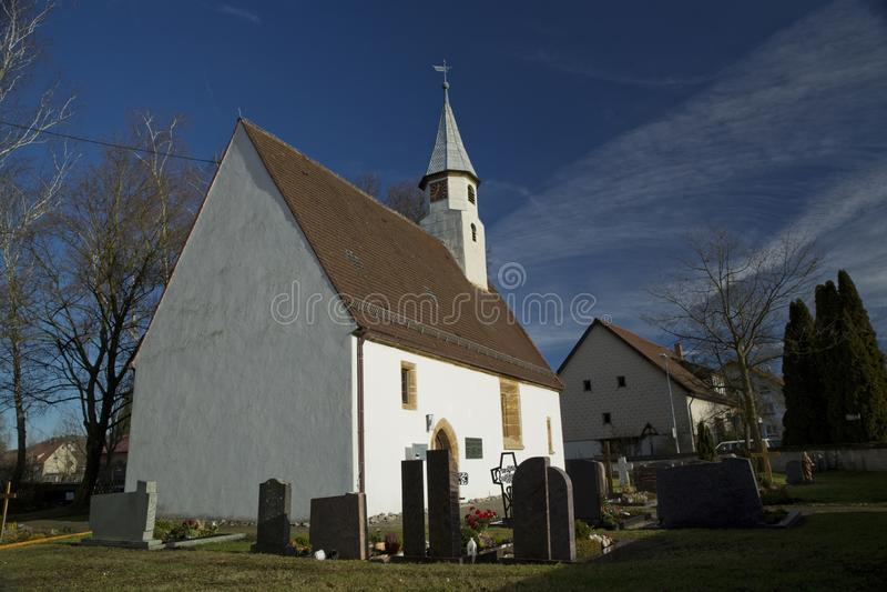 ?glise de Krummwalden, Krummwalden, Baden Wurttenberg, Allemagne - 1er janvier 2014 image stock