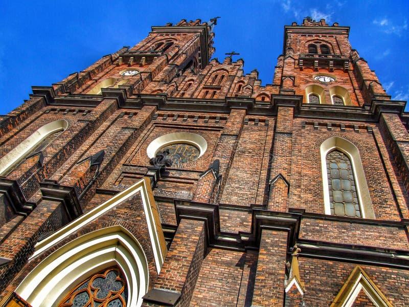 ?glise de l'acceptation de Vierge Marie b?ni ? Lodz en Pologne images stock