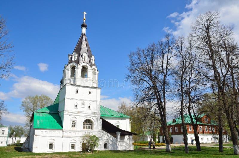 ?glise de Pokrovskaya dans Alexandrovskaya Sloboda, Alexandrov, r?gion de Vladimir, anneau d'or de la Russie images libres de droits